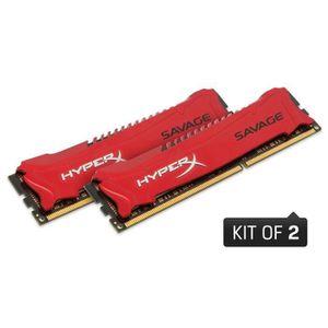 CARTE MÈRE Kingston 8Go DDR3 HyperX Savage CL9 1600MHz (x2)