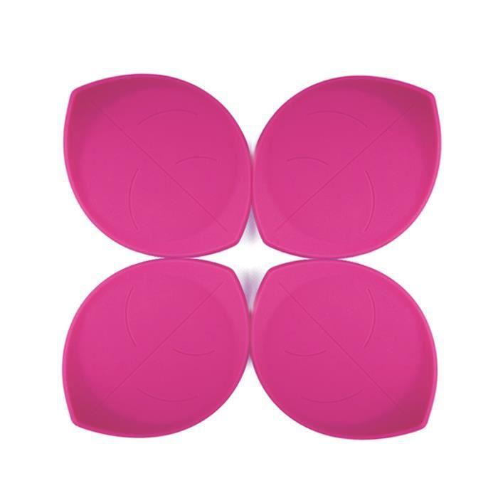 4pcs silicone coupe mat rose rouge feuille en forme achat vente dessous de plat cdiscount. Black Bedroom Furniture Sets. Home Design Ideas