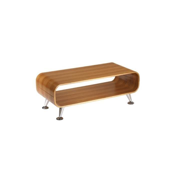 Table basse de salon marron 90x39x33cm achat vente for Meuble salon marron