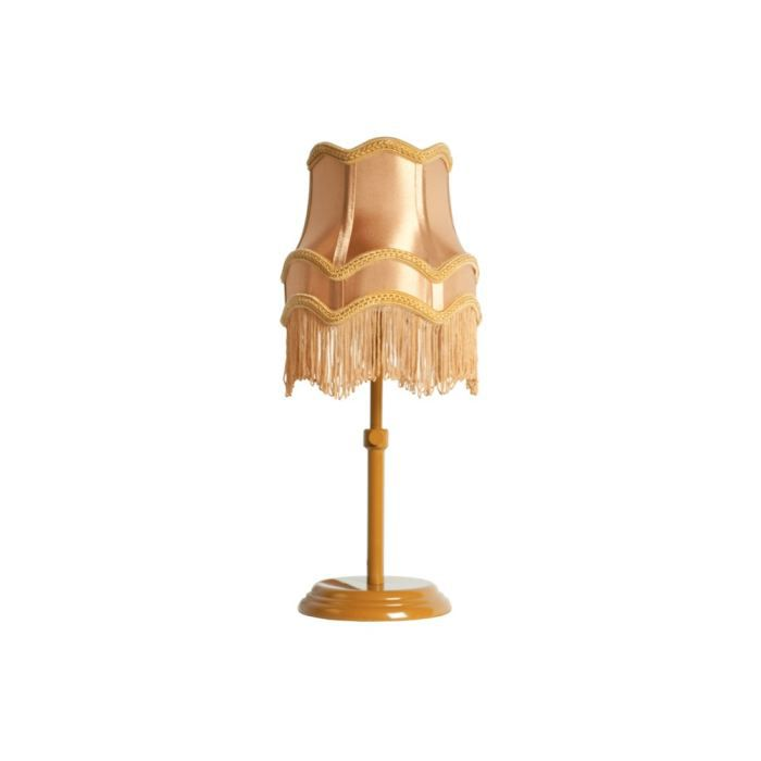 lampe poser r tro fringe couleur or achat vente lampe poser r tro fringe soldes d. Black Bedroom Furniture Sets. Home Design Ideas