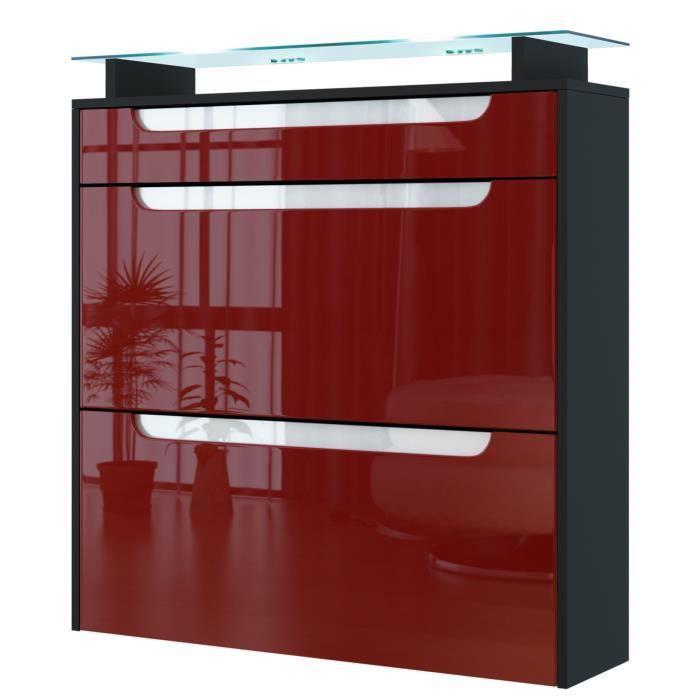 range chaussures suspendu noir bordeaux blanc achat. Black Bedroom Furniture Sets. Home Design Ideas