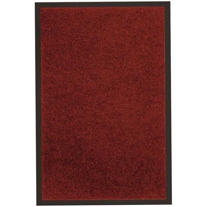 tapis anti poussi re 40x60cm uni rouge achat vente tapis dessus 100 polyester dessous 100. Black Bedroom Furniture Sets. Home Design Ideas