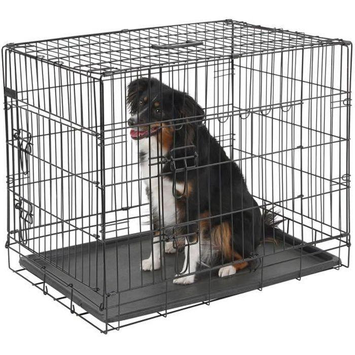 kerbl cage de transport noir pour chien 74 x 54 x 64cm 2. Black Bedroom Furniture Sets. Home Design Ideas