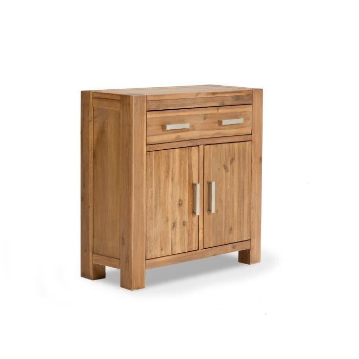 commode savon avec 2 portes en acacia massif achat vente petit meuble rangement 1 tiroir 2. Black Bedroom Furniture Sets. Home Design Ideas