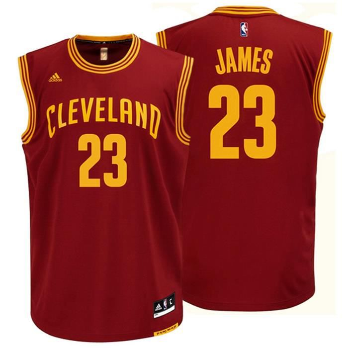 maillot nba replica 2015 lebron james cleveland cavaliers rouge rouge achat vente maillot. Black Bedroom Furniture Sets. Home Design Ideas