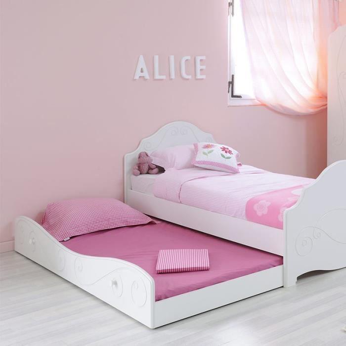 tiroir de lit enfant betty blanc paris prix achat. Black Bedroom Furniture Sets. Home Design Ideas
