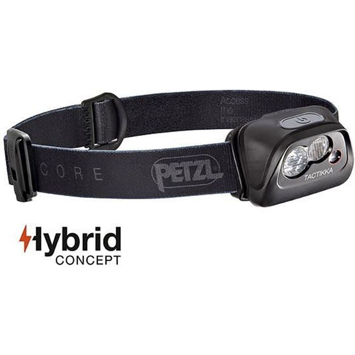 lampe frontale petzl rechargeable tactikka core noir. Black Bedroom Furniture Sets. Home Design Ideas