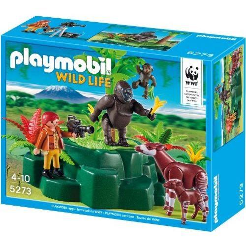 playmobil wild life 5273 gorilles et okapis ave achat vente univers miniature playmobil. Black Bedroom Furniture Sets. Home Design Ideas