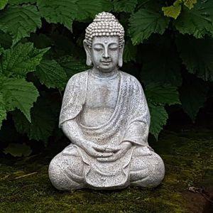 grande statue bouddha achat vente grande statue bouddha pas cher les soldes sur cdiscount. Black Bedroom Furniture Sets. Home Design Ideas