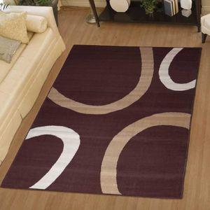 tapis marron achat vente tapis marron pas cher cdiscount. Black Bedroom Furniture Sets. Home Design Ideas