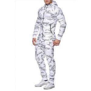 5894c6870cee ... ensemble survetement jogging camouflage blanc