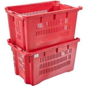 caisse plastique de rangement achat vente caisse plastique de rangement pas cher cdiscount. Black Bedroom Furniture Sets. Home Design Ideas