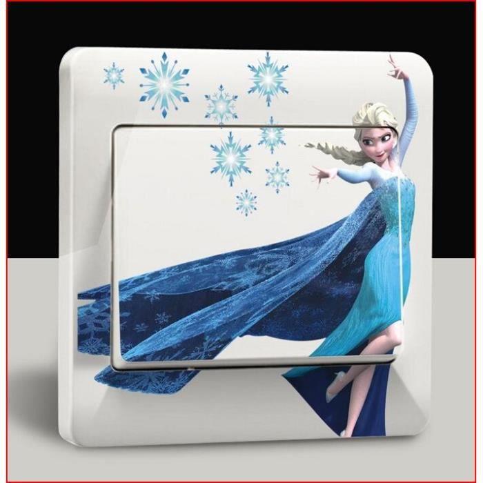 petit sticker interrupteur chambre disney elsa anna reine des neiges 9cmx9cm achat vente. Black Bedroom Furniture Sets. Home Design Ideas