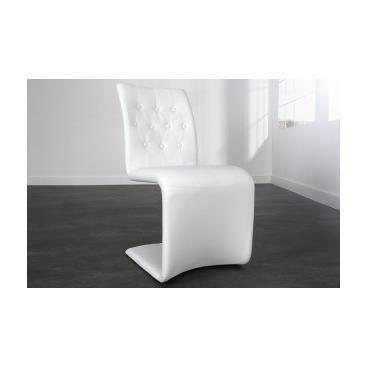 lot de 2 chaises design pas cher de salle 224 manger chaises spectre achat vente chaise cuir