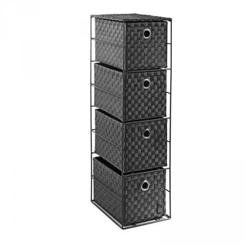 Meuble 4 tiroirs noir achat vente petit meuble - Petit meuble noir ...