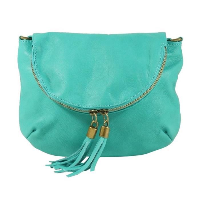 pochette femme turquoise
