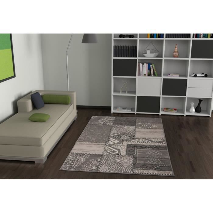 Allotapis tapis de salon convivo carr 190x280cm rouge achat vente - Recherche tapis de salon ...