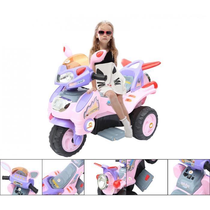 moto lectrique 3 roues 6v rose achat vente moto. Black Bedroom Furniture Sets. Home Design Ideas