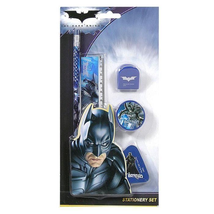 Batman set papeterie fournitures scolaires achat for Papeterie bureau
