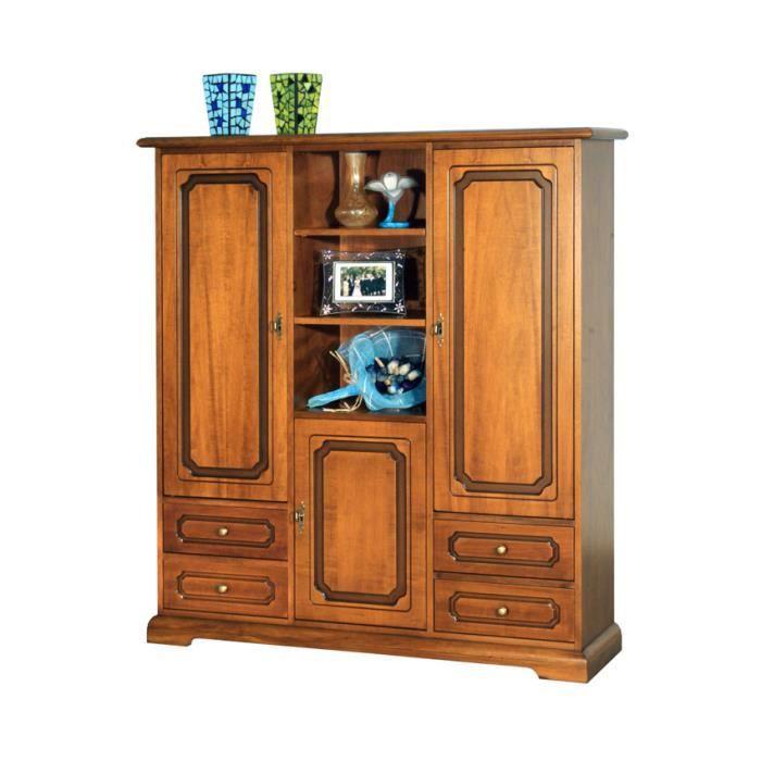 armoire 3 portes et 4 tiroirs achat vente armoire de. Black Bedroom Furniture Sets. Home Design Ideas