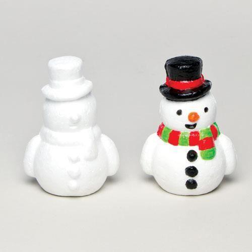bonhommes de neige en polystyr ne que les enfants pourront peindre et d corer parfaits comme. Black Bedroom Furniture Sets. Home Design Ideas
