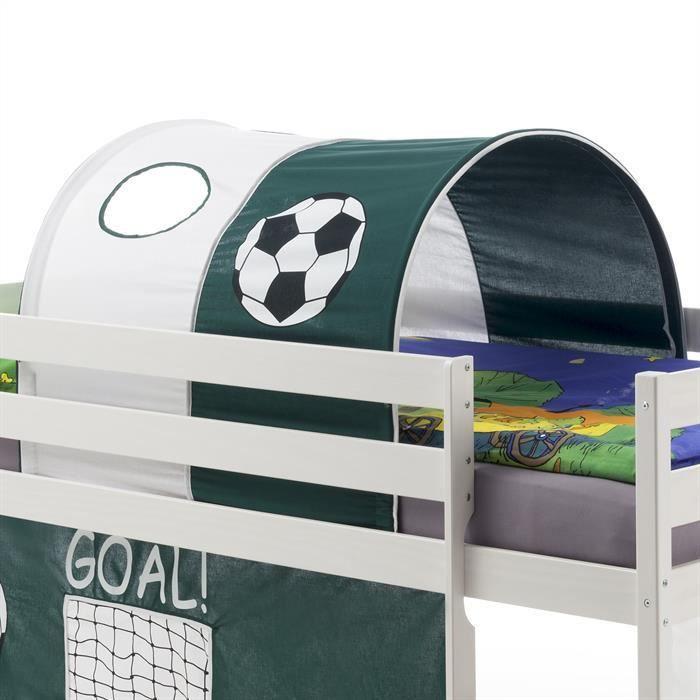 Tunnel foot vert fonc blanc achat vente tente de lit cdiscount - Tunnel de lit pas cher ...