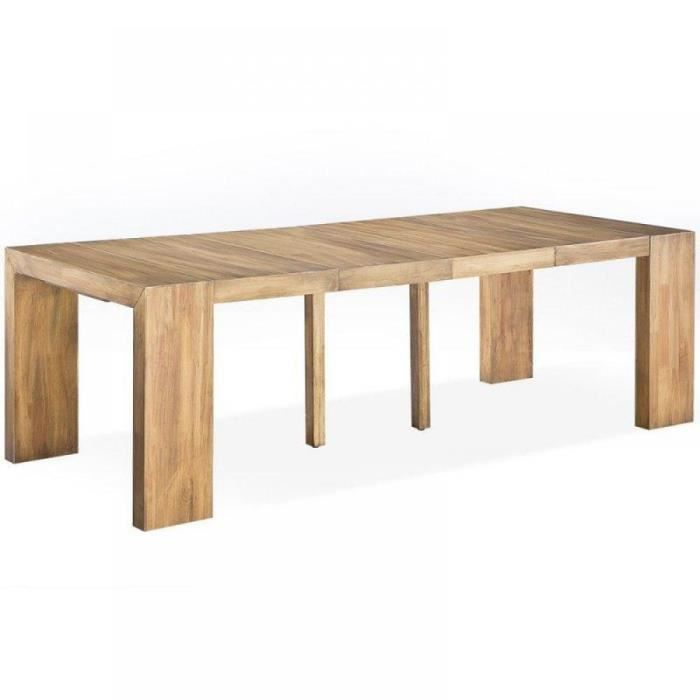Console extensible sublimo ch ne capuccino 12 achat for Table console pliable 2 6 couverts