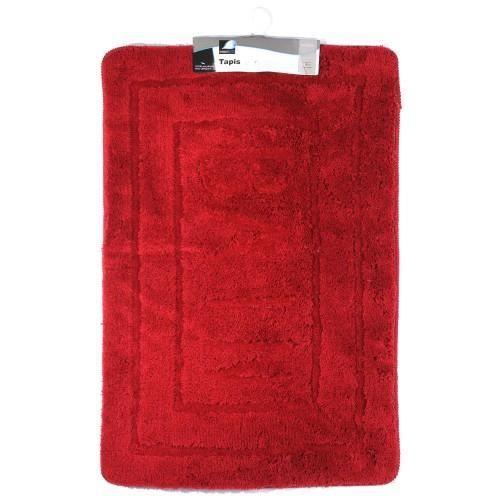 tapis salle de bain 60x90cm rouge achat vente tapis de bain soldes cdiscount. Black Bedroom Furniture Sets. Home Design Ideas