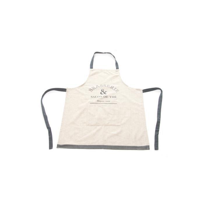 Tablier de cuisine imprim bistrot achat vente tablier for Achat tablier cuisine