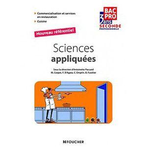 Sciences appliquees cap achat vente sciences - Referentiel cap cuisine ...