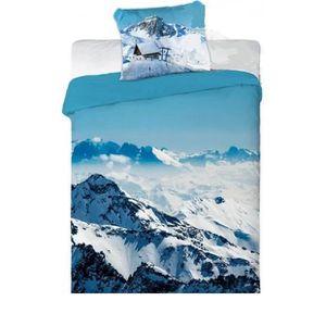 Parure lit montagne achat vente parure lit montagne for Housse de couette de montagne
