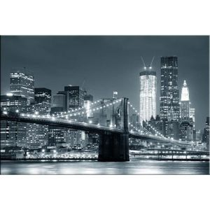 Tableau new york city brooklyn toile canvas 120x80 cm achat vente table - Ikea tableau new york ...