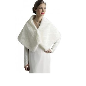 echarpe foulard etole ou ivoire femme pour mariage fausse fourrur - Etole Mariage Pas Cher