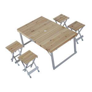 Table en bois avec banc achat vente table en bois avec - Table de camping avec banc ...