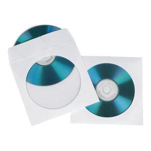 HAMA ENVELOPPES EN PAPIER POUR CD BLANC, 50 PCS