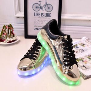 BASKET Chaussure Sneakers LED Homme Femme USB  Lumière...
