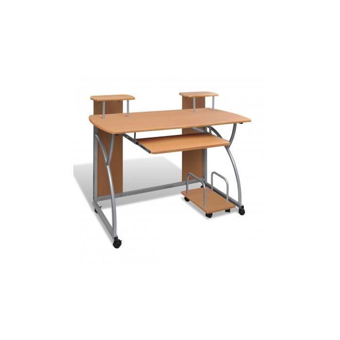table de bureau brune pour ordinateur avec tag re achat vente bureau table de bureau brune. Black Bedroom Furniture Sets. Home Design Ideas
