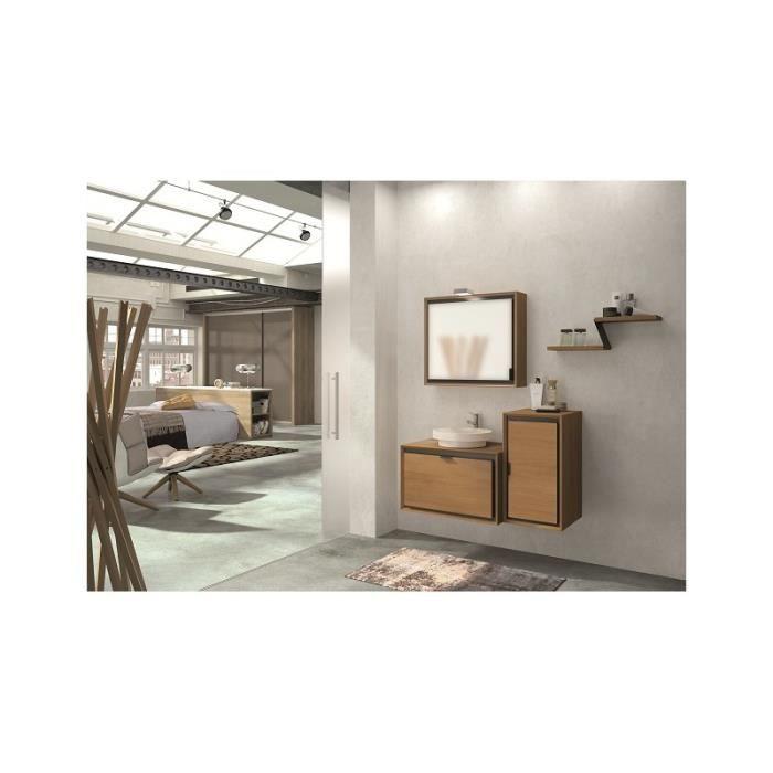 Meuble de salle de bain suspendu domino 107 cm50 cm avec - Meubles de salle de bain soldes ...