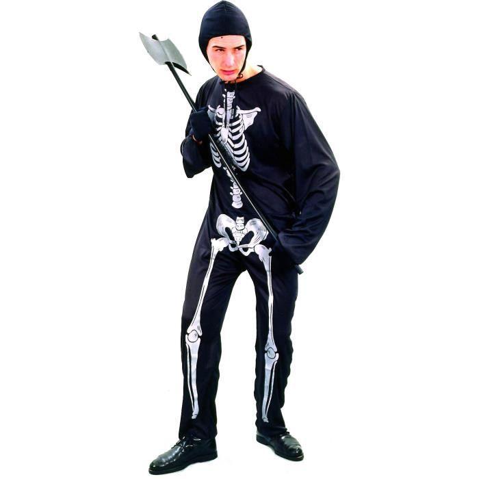 d guisement squelette homme halloween achat vente d guisement panoplie cdiscount. Black Bedroom Furniture Sets. Home Design Ideas