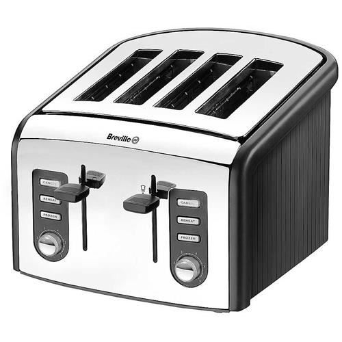 grille pain 4 tranches en inox poli breville vt achat vente grille pain toaster cdiscount. Black Bedroom Furniture Sets. Home Design Ideas