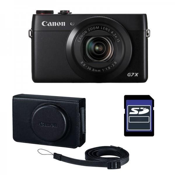 Canon kit premium g7x housse cuir et carte 16gb achat for Housse appareil photo canon