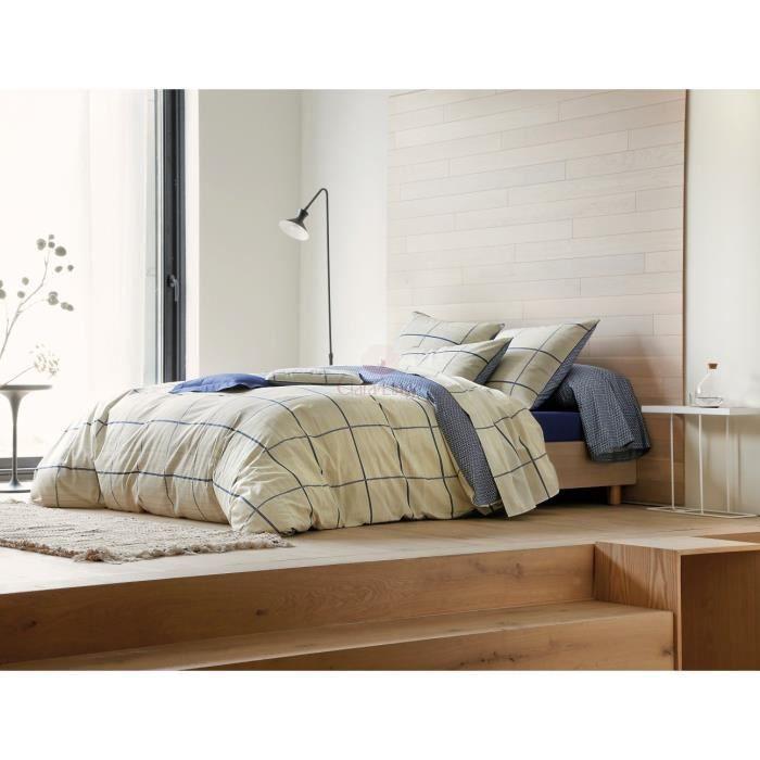 parure housse de couette tao indigo 200x200 achat vente housse de couette cdiscount. Black Bedroom Furniture Sets. Home Design Ideas