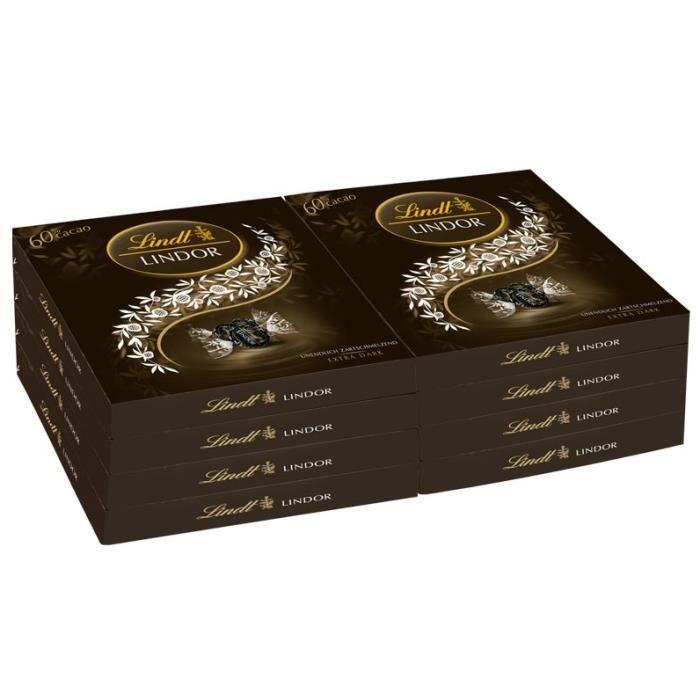 lindt lindor bo te cadeau chocolat extra noir 8p achat vente confiserie de chocolat lindt. Black Bedroom Furniture Sets. Home Design Ideas
