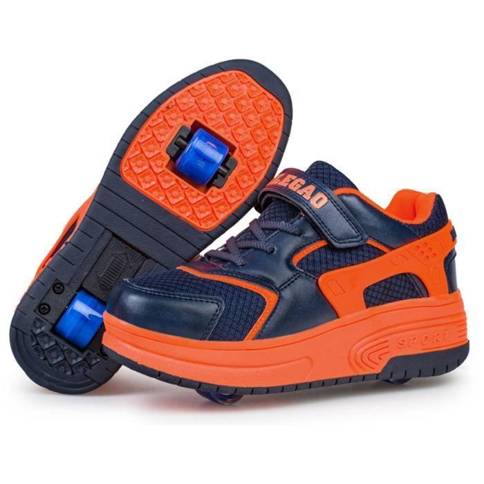 baskets enfants chaussures roulettes gar ons filles sneakers avec roues automatique de. Black Bedroom Furniture Sets. Home Design Ideas