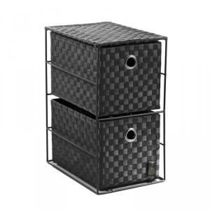 Paris prix petit meuble 2 tiroirs noir achat vente - Petit meuble noir ...