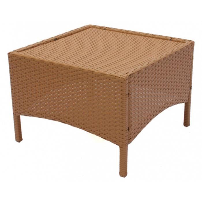 table de jardin rom en poly rotin sans plaque achat vente fauteuil jardin table de. Black Bedroom Furniture Sets. Home Design Ideas