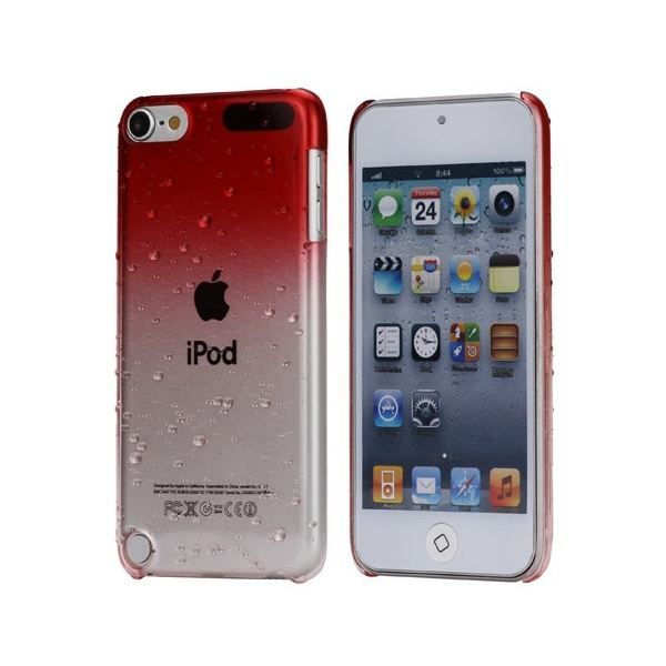 Coque ipod touch 5 housse bi teinte rouge et tra coque for Housse ipod touch 5