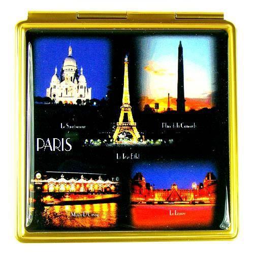 Miroir monuments de paris la nuit achat vente miroir for Miroir paris france