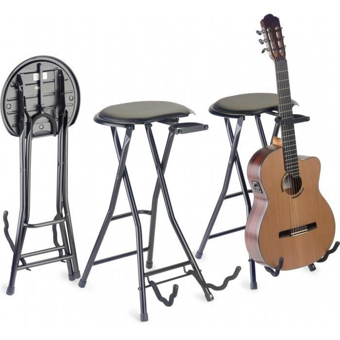 tabouret rectangulaire pliable stand pour guitare achat vente si ge banquette tabouret. Black Bedroom Furniture Sets. Home Design Ideas