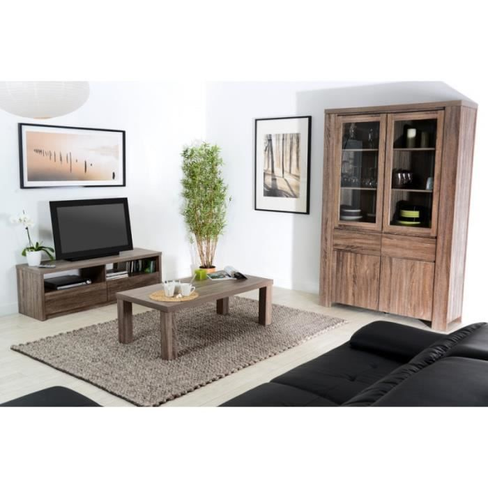 ensemble meuble tv et table basse campagne en c achat. Black Bedroom Furniture Sets. Home Design Ideas